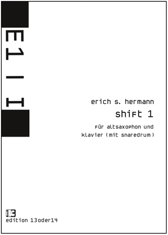 Erich S. Hermann - shift1 für Altsaxophon und Klavier, Noten