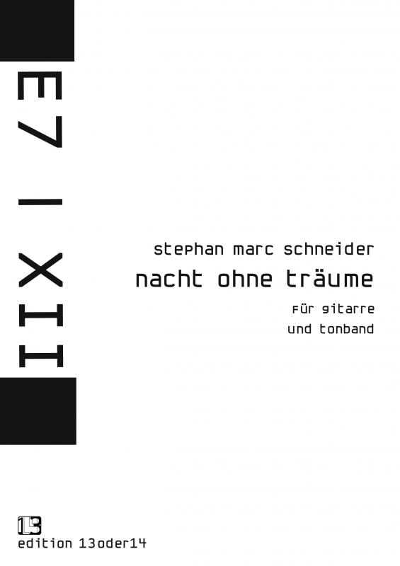 Stephan Marc Schneider - Nacht ohne Träume, Noten