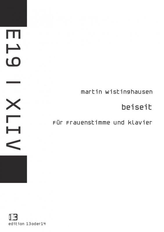 Martin Wistinghausen - Beiseit (Frauenstimme), Noten