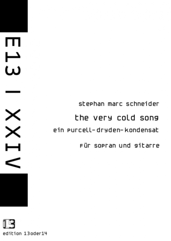 Stephan Marc Schneider - the very cold song, Noten