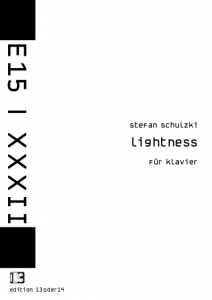 Stefan Schulzki - Lightness, Noten