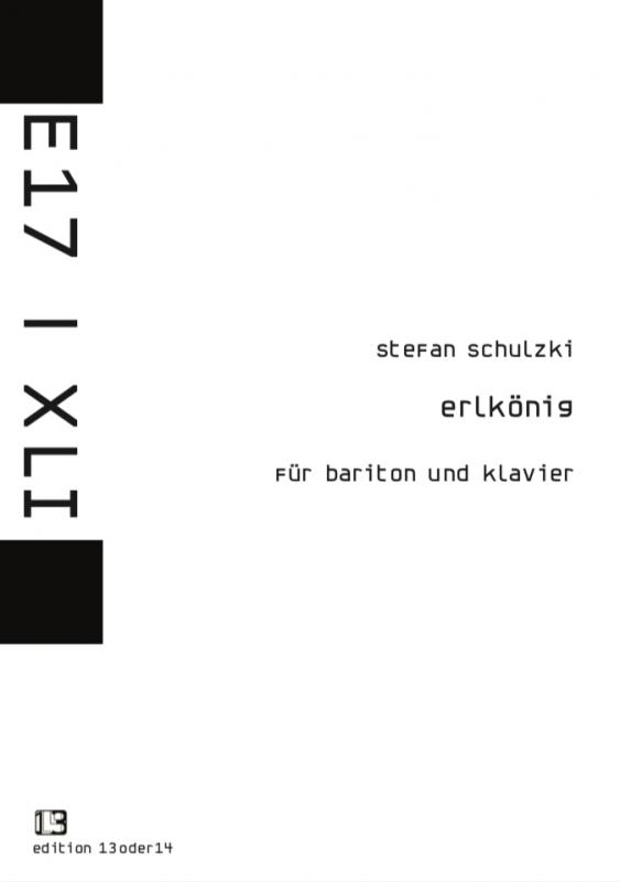 Stefan Schulzki - Erlkönig, Noten