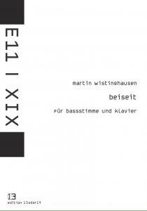 Martin Wistinghausen - Beiseit (Bassstimme), Noten